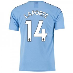 Manchester City Home Shirt 2019-20 with Laporte 14 printing