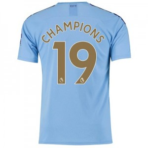 Manchester City Home Shirt 2019-20 with Champions 19 printing