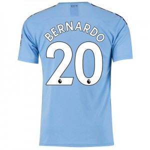 Manchester City Home Shirt 2019-20 with Bernardo 20 printing