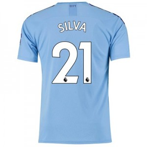 Manchester City Home Shirt 2019-20 with Silva 21 printing