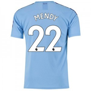 Manchester City Home Shirt 2019-20 with Mendy 22 printing