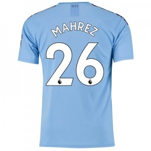 Manchester City Home Shirt 2019-20 with Mahrez 26 printing