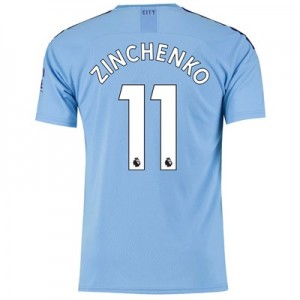 Manchester City Home Shirt 2019-20 with Zinchenko 11 printing