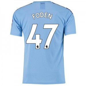 Manchester City Home Shirt 2019-20 with Foden 47 printing