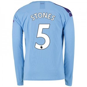 Manchester City Home Shirt 2019-20 - Long Sleeve with Stones 5 printing