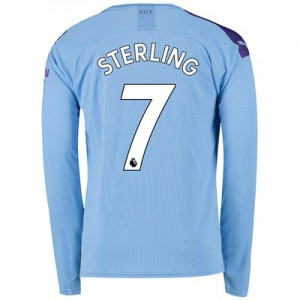 Manchester City Home Shirt 2019-20 - Long Sleeve with Sterling 7 printing
