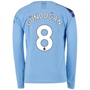 Manchester City Home Shirt 2019-20 - Long Sleeve with Gündogan 8 printing