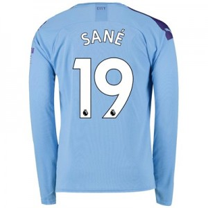 Manchester City Home Shirt 2019-20 - Long Sleeve with Sané 19 printing