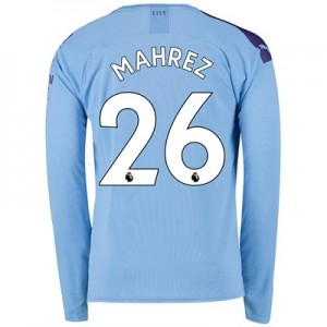 Manchester City Home Shirt 2019-20 - Long Sleeve with Mahrez 26 printing