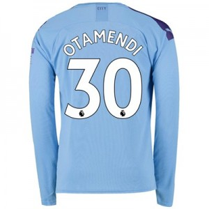 Manchester City Home Shirt 2019-20 - Long Sleeve with Otamendi 30 printing