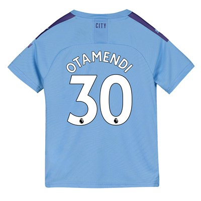 Manchester City Home Shirt 2019-20 - Kids with Otamendi 30 printing