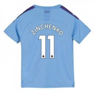 Manchester City Home Shirt 2019-20 - Kids with Zinchenko 11 printing