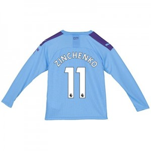 Manchester City Home Shirt 2019-20 - Long Sleeve - Kids with Zinchenko 11 printing