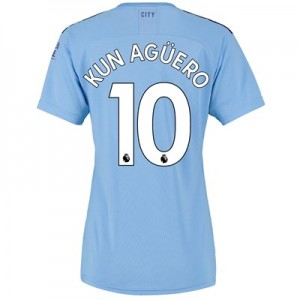 Manchester City Home Shirt 2019-20 - Womens with Kun Agüero  10 printing