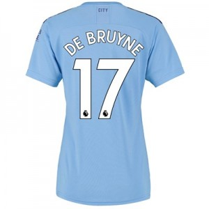 Manchester City Home Shirt 2019-20 - Womens with De Bruyne 17 printing