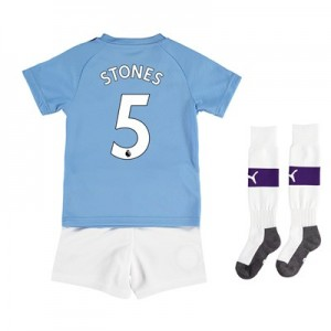 Manchester City Home Mini Kit 2019-20 with Stones 5 printing