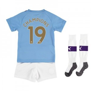 Manchester City Home Mini Kit 2019-20 with Champions 19 printing