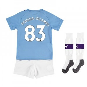 Manchester City Home Mini Kit 2019-20 with Poveda-Ocampo 83 printing