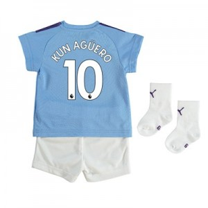 Manchester City Home Baby Kit 2019-20 with Kun Agüero  10 printing