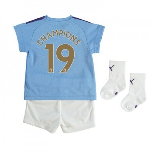 Manchester City Home Baby Kit 2019-20 with Champions 19 printing