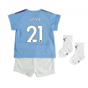 Manchester City Home Baby Kit 2019-20 with Silva 21 printing