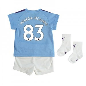 Manchester City Home Baby Kit 2019-20 with Poveda-Ocampo 83 printing