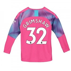 Manchester City Away Goalkeeper Shirt 2019-20 - Kids with Grimshaw 32 printing