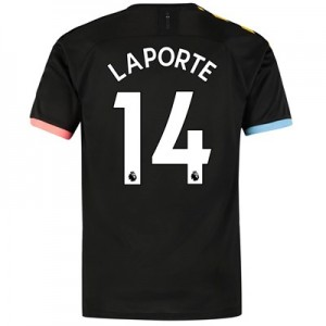 Manchester City Authentic Away Shirt 2019-20 with Laporte 14 printing