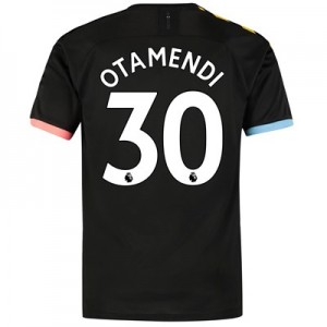 Manchester City Authentic Away Shirt 2019-20 with Otamendi 30 printing