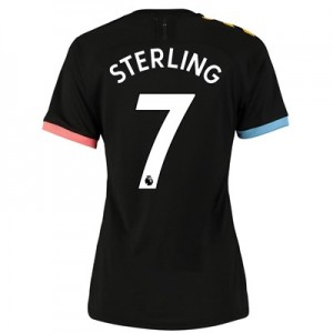 Manchester City Authentic Away Shirt 2019-20 - Womens with Sterling 7 printing