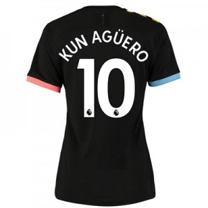 Manchester City Authentic Away Shirt 2019-20 - Womens with Kun Agüero  10 printing