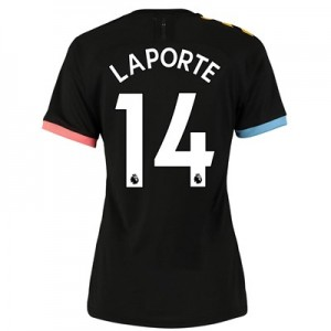 Manchester City Authentic Away Shirt 2019-20 - Womens with Laporte 14 printing