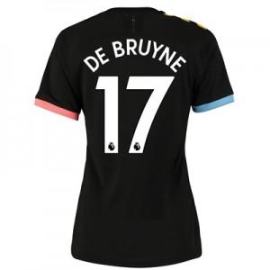 Manchester City Authentic Away Shirt 2019-20 - Womens with De Bruyne 17 printing