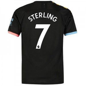 Manchester City Away Shirt 2019-20 with Sterling 7 printing
