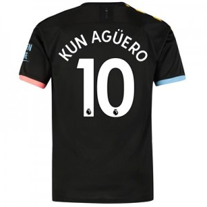 Manchester City Away Shirt 2019-20 with Kun Agüero  10 printing