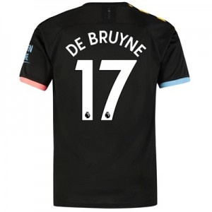 Manchester City Away Shirt 2019-20 with De Bruyne 17 printing