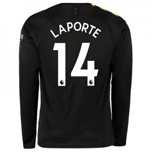 Manchester City Away Shirt 2019-20 - Long Sleeve with Laporte 14 printing