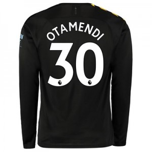 Manchester City Away Shirt 2019-20 - Long Sleeve with Otamendi 30 printing