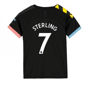 Manchester City Away Shirt 2019-20 - Kids with Sterling 7 printing