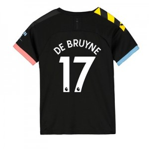 Manchester City Away Shirt 2019-20 - Kids with De Bruyne 17 printing