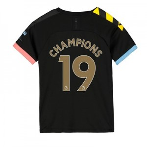 Manchester City Away Shirt 2019-20 - Kids with Champions 19 printing
