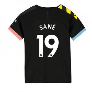 Manchester City Away Shirt 2019-20 - Kids with Sané 19 printing