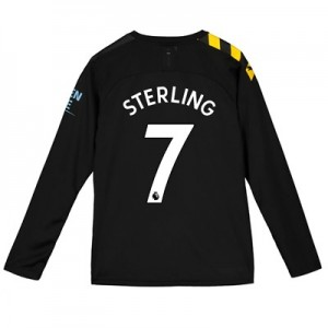 Manchester City Away Shirt 2019-20 - Long Sleeve - Kids with Sterling 7 printing