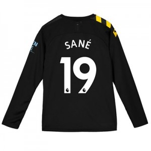 Manchester City Away Shirt 2019-20 - Long Sleeve - Kids with Sané 19 printing