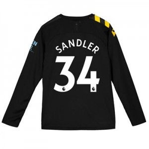 Manchester City Away Shirt 2019-20 - Long Sleeve - Kids with Sandler 34 printing