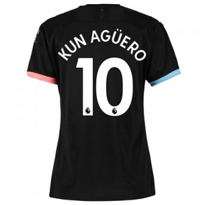 Manchester City Away Shirt 2019-20 - Womens with Kun Agüero  10 printing