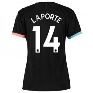 Manchester City Away Shirt 2019-20 - Womens with Laporte 14 printing