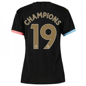 Manchester City Away Shirt 2019-20 - Womens with Champions 19 printing