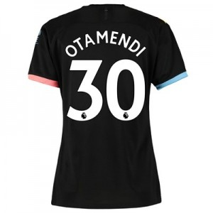 Manchester City Away Shirt 2019-20 - Womens with Otamendi 30 printing