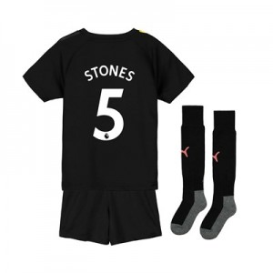 Manchester City Away Mini Kit 2019-20 with Stones 5 printing